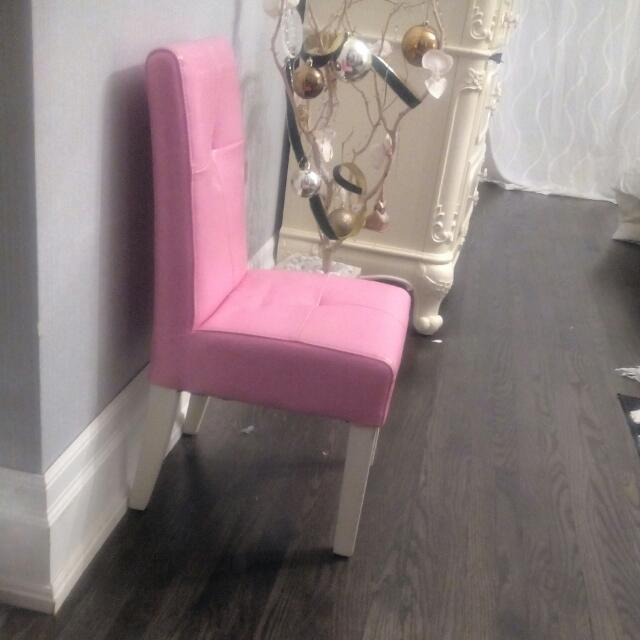Girls Leather Pink Chair Some Scratches