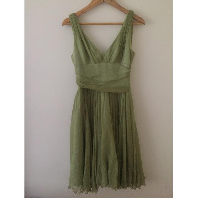 Green Flowy Dress - M
