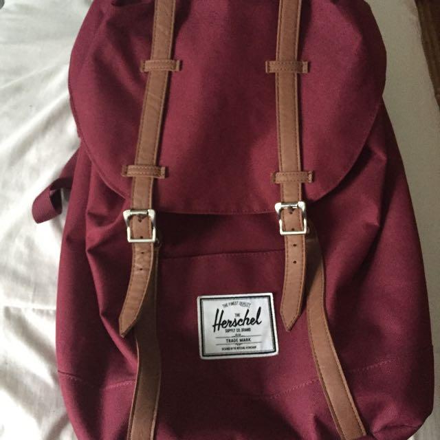 Burgundy w/ Tan Straps Hershel™ Supply Backpack