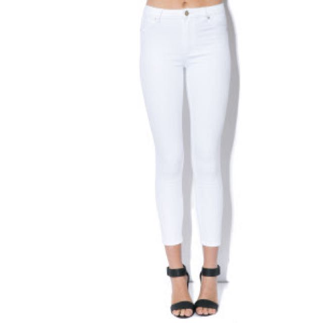 High Wasted White Jeans