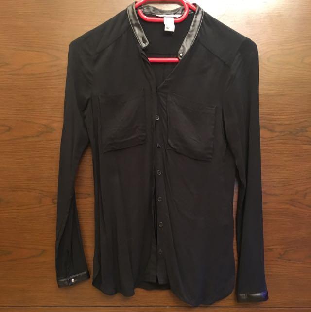 [H&M] Black Blouse