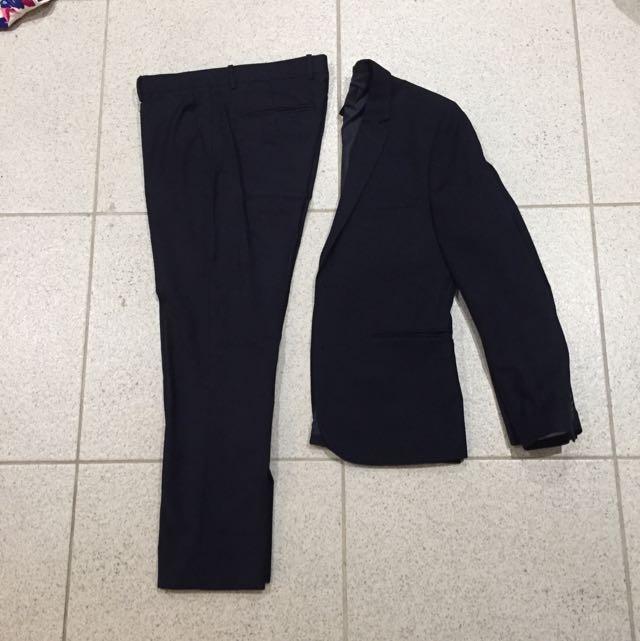 H&M Slim Fit Navy Suit