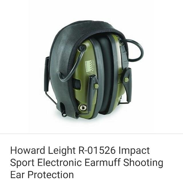 Howard Leight R-0156 Impact Sport Electronic Earmuff Shooting Ear Protection