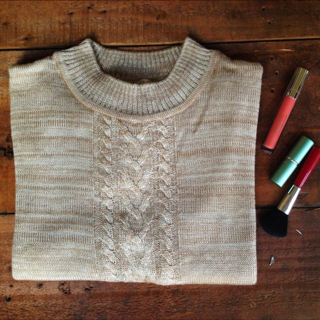 Immagina Brown Soft Woll Jumper