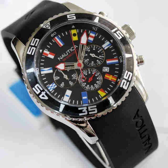 Jam Tangan Nautica Euro Rubber Silver Premium c36128f33d