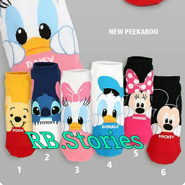 Korean Socks Disney Peek A Boo Series