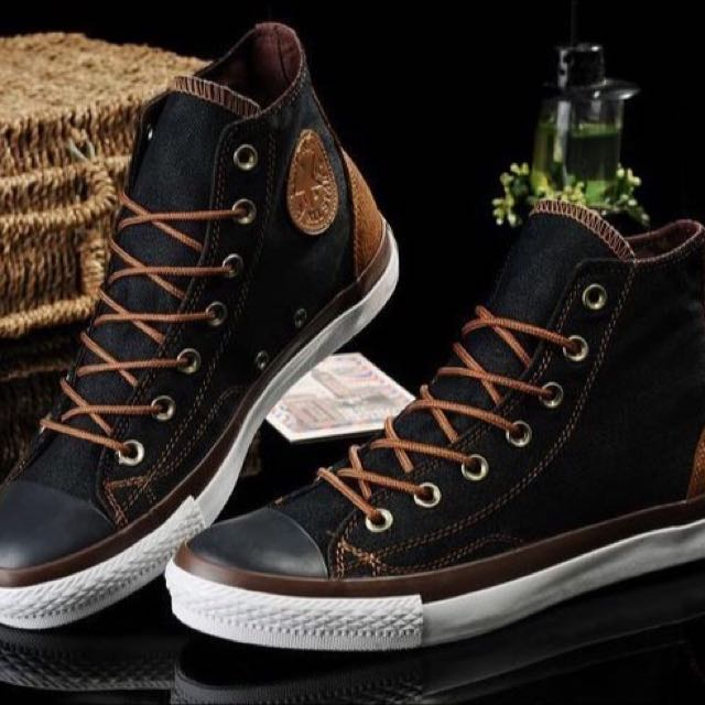 3ffb3776c7ad Converse  LIMITED EDITION  All Star Black   Brown High Cut Sneakers ...