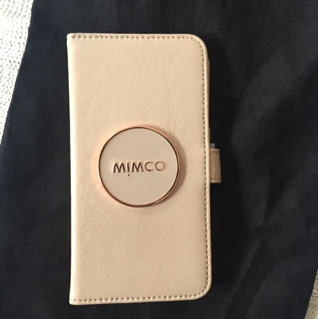 Mimco iPhone 6 Plus Taupe Phone Wallet