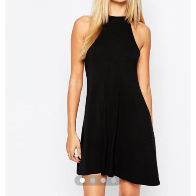 Misguided High Neck Swing Dress