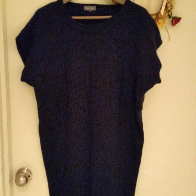 Navy Knit Long T-shirt (10)