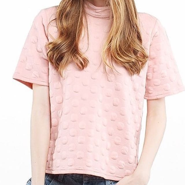 [NEW] COTTON INK – Turtleneck Top in Pink - Size S