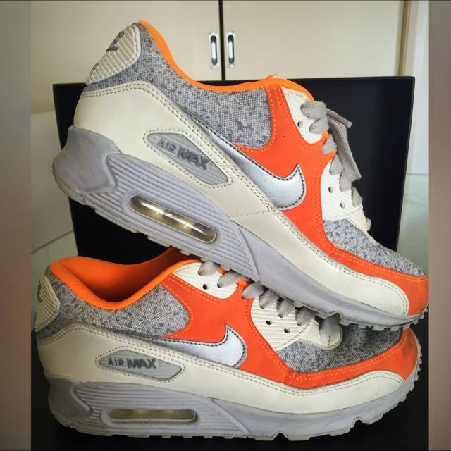 Nike Air Max Orange/ White/ Silver Line
