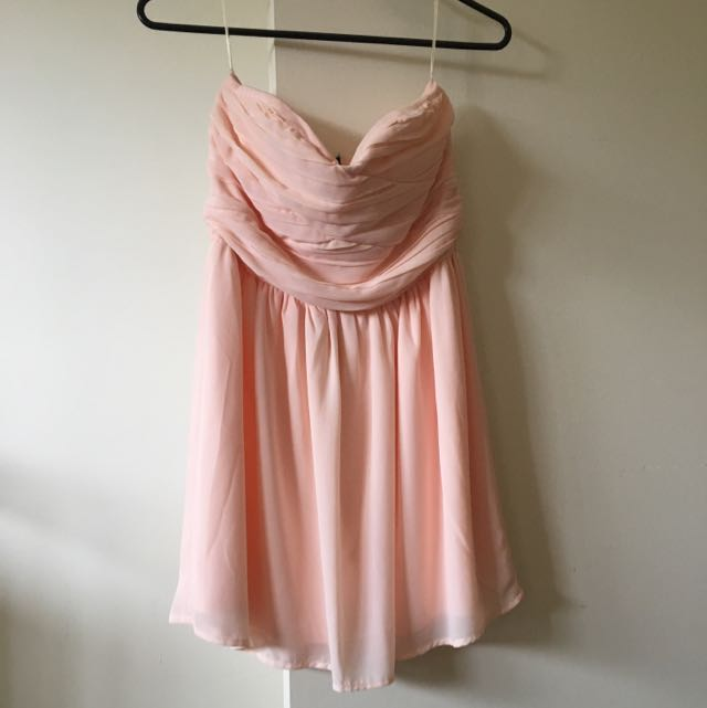 Peach Cocktail Dress