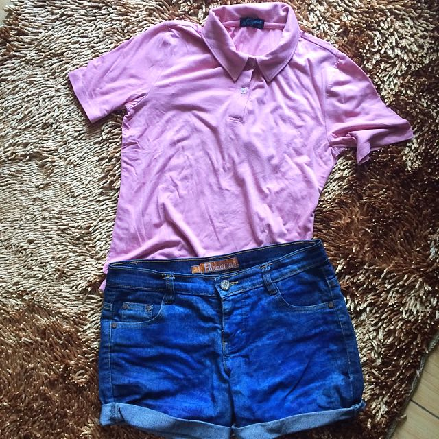 Pink Polo-Style Shirt