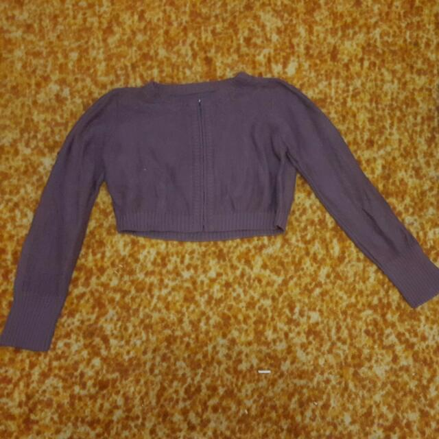 Purple Crop Jumper