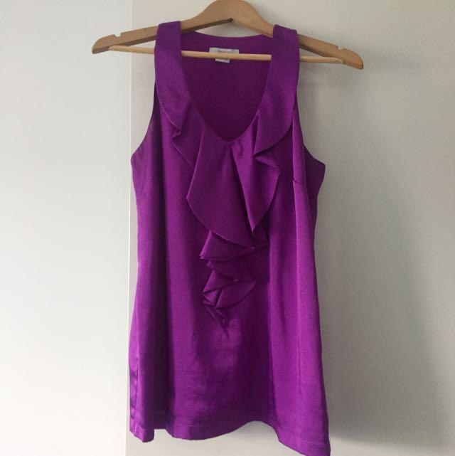 Purple Frill Top