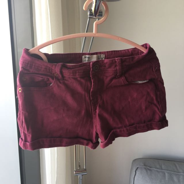 Red Maroon Shorts