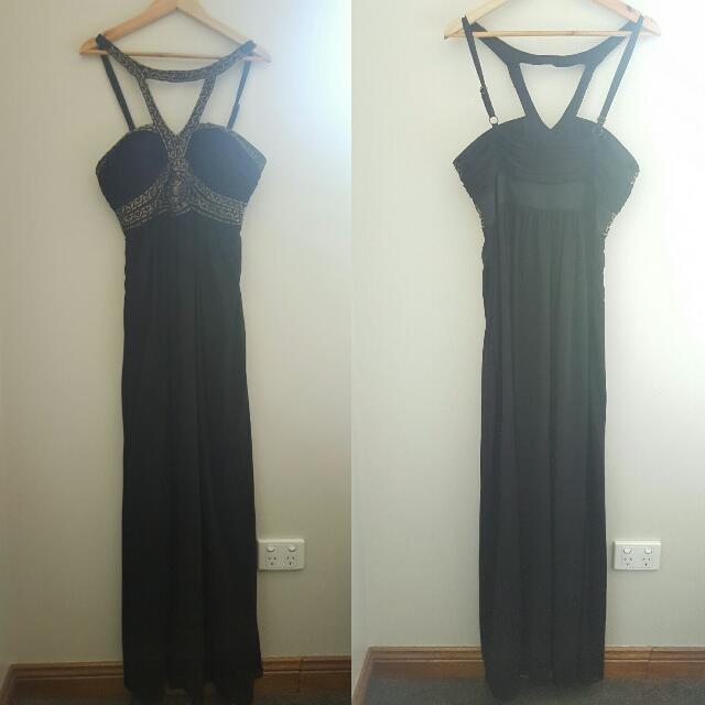 Seduce Long Black Formal Dress Size 12 Womens Fashion Clothes On