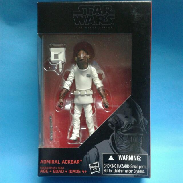 Star Wars Black Series Amiral Ackbar WALMART EXCLUSIVE Loose complet