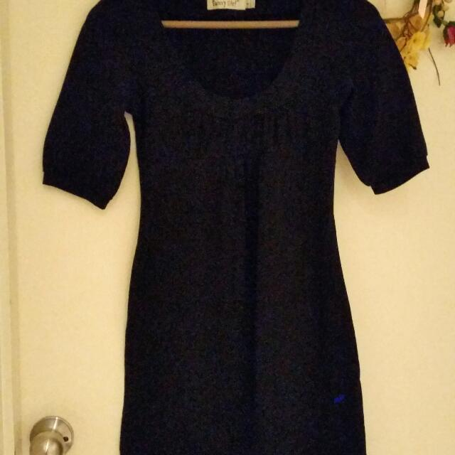Stretchy A-Line Black Dress