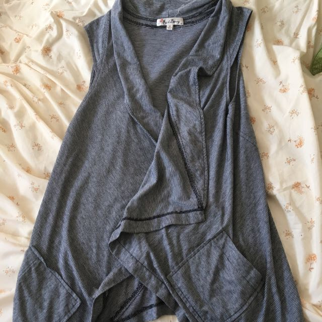 Super Cute Grey Vest - Brand Red Berry