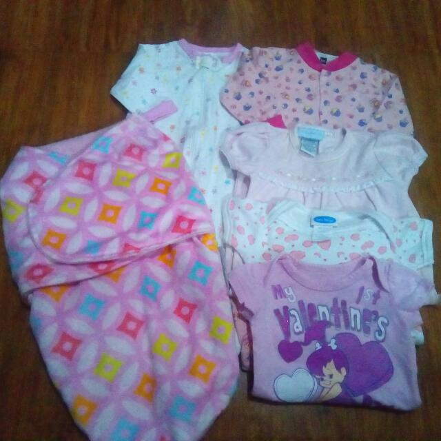 REPRICED!!!take all 350php preloved stuffs babygirl 0-3mos