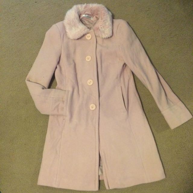Top shop Pink Coat Sz 10