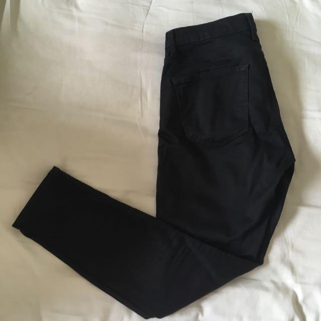 Topshop Petite Black Skinny Leigh Jeans