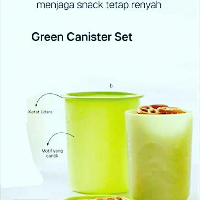 Tupperware Green Canister