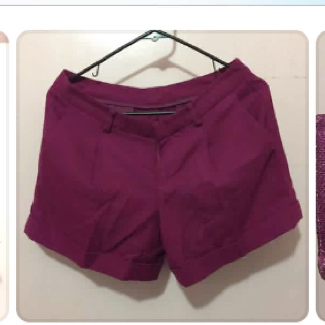 Uniqlo Magenta Shorts