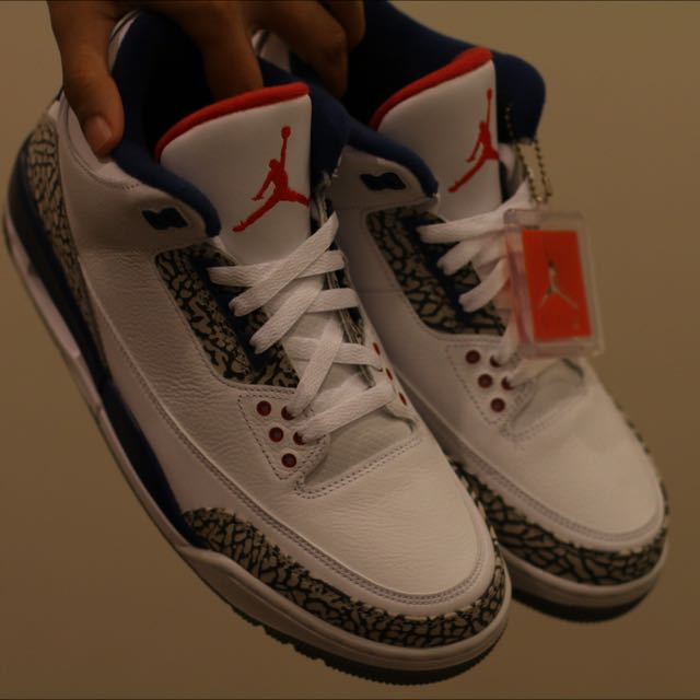 US 10 Air Jordan 3 True Blue