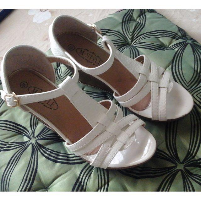 White Heels Sandal