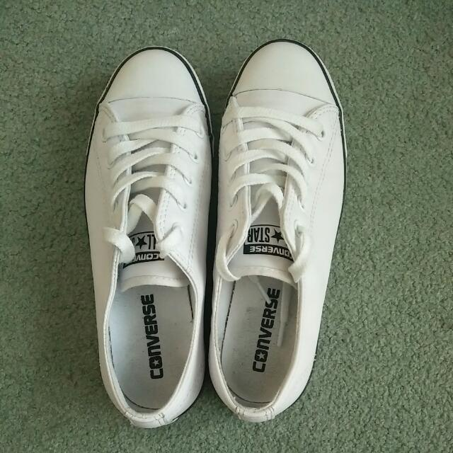 Women's White Converse All Stars