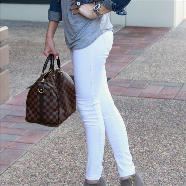 Zara White Jeans Skinny Leg 6