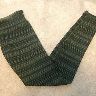 Army Green Lululemon Wunder Under Tights