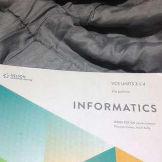 VCE U3&4 Informatics 4th Edition