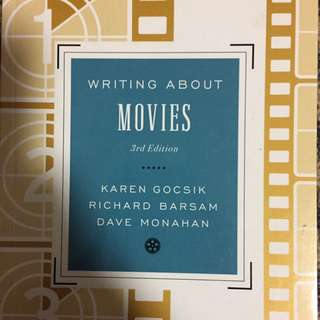 Writing About Movies Third Edition CIN105Y1
