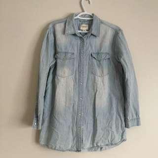 Jean Button Up Shirt