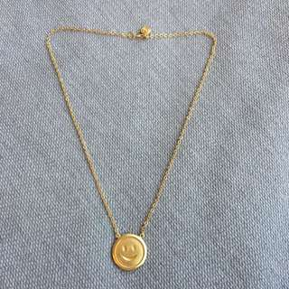 Smiley Face Gold Necklace