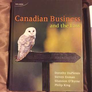 Canadian Business and The Law