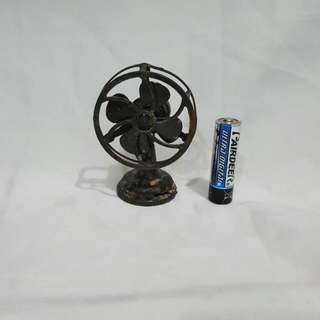 vintage iron electric fan miniature
