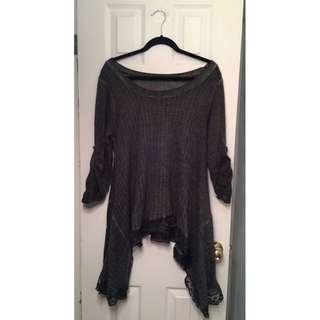 Grey Tunic Style Sweater