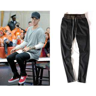 Justin Bieber Men Slim Fit Fear of God Pants