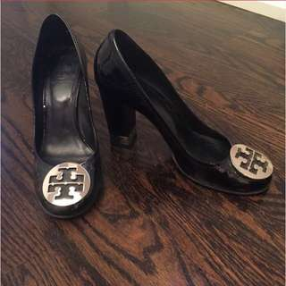 Tory Burch Heels With Gold Accents - 9