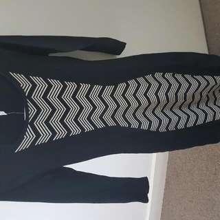 LISA Black/beige Knit Dress Multi