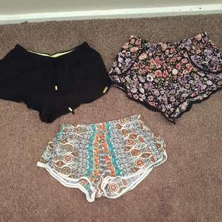 Loose Summer Shorts Size 6 To 8