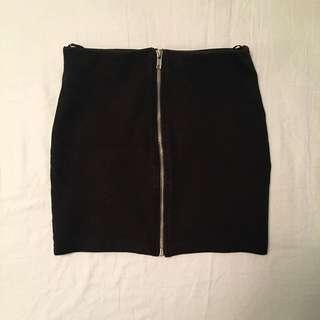 H&M Zipper Miniskirt