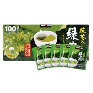 ☆好市多 COSTCO Kirkland Signature 科克蘭  日本綠茶包 1.5公克*100包*2組☆