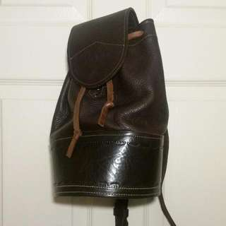 Small Leather Bucket Shoulder Bag