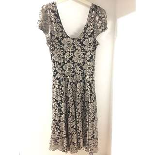 CHIC A BOOTI Floral Rose Lace Mesh Dress [Size M / 10]